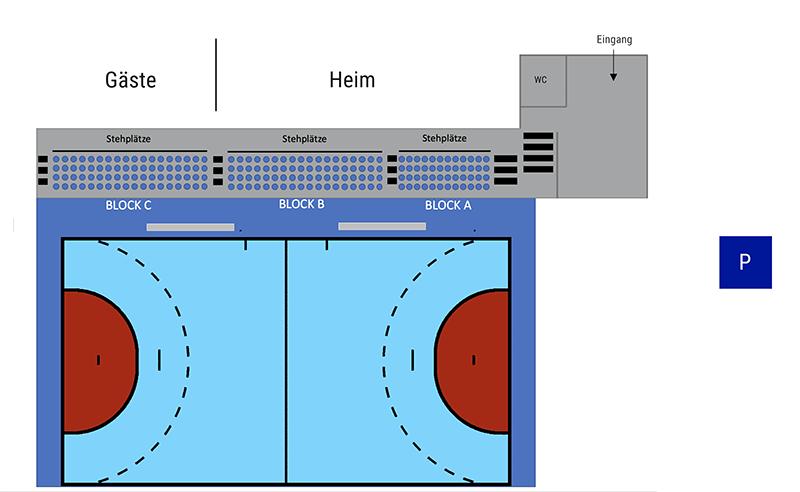 Hallenplan Krabben-Arena